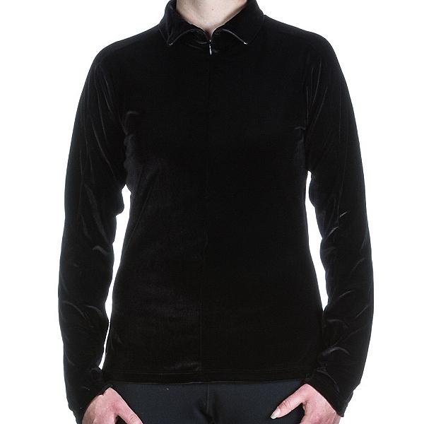 Skea Invisible Zip T Neck Womens Mid Layer, Black, 600