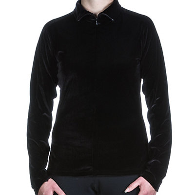 Skea Invisible Zip T Neck Womens Mid Layer, Black, viewer
