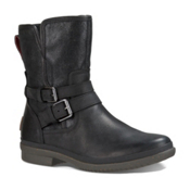 UGG Simmens Womens Boots, Black Leather, medium