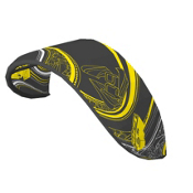 HQ Kites Ignition Kiteboarding Kite, Black-Yellow, medium