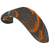 HQ Kites Ignition Kiteboarding Kite, Black-Orange, medium