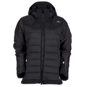 KJUS Snowray Womens Insulated Ski Jacket, Black Melange-Black, medium