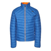KJUS Blackcomb Mens Jacket, Malawi Blue-K Orange, medium