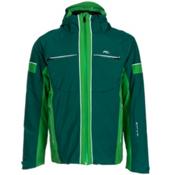 KJUS Downforce Mens Insulated Ski Jacket, Taiga-Clover Leaf, medium
