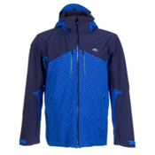 KJUS Ridge Mens Insulated Ski Jacket, Atlanta Blue-Malawi Blue, medium