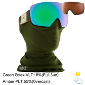 Anon Mig Goggles, Wellington-Green Solex + Bonus Lens, medium
