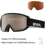 Anon Relapse Goggles 2017, Black-Silver Amber, medium
