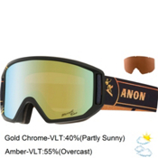 Anon Relapse Goggles 2015, Merrill Pro-Gold Chrome, medium