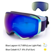 Anon WM1 Womens Goggles 2016, Austalis-Blue Cobalt + Bonus Lens, medium