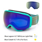 Anon WM1 Womens Goggles 2016, Mint-Blue Cobalt + Bonus Lens, medium