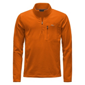 KJUS Hydraulic Half Zip Mens Mid Layer, K Orange-Crimson, medium