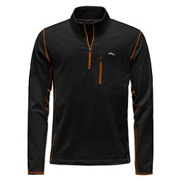 KJUS Hydraulic Half Zip Mens Mid Layer, Black-K Orange, 256