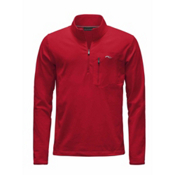 KJUS Hydraulic Half Zip Mens Mid Layer, Scarlet-Crimson, medium