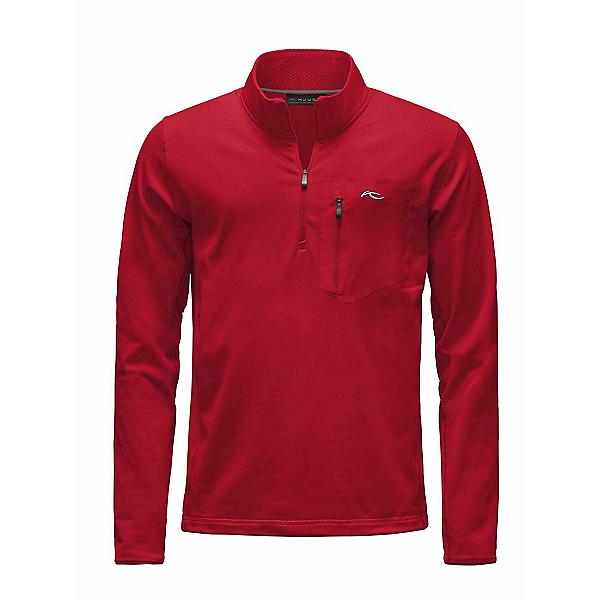 KJUS Hydraulic Half Zip Mens Mid Layer, Scarlet-Crimson, 600