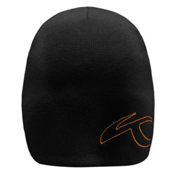 KJUS Beanie Hat, Black-K Orange, medium