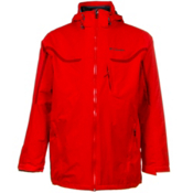 Columbia Whirlibird Interchange Tall Mens Insulated Ski Jacket, Bright Red-Rocket, medium