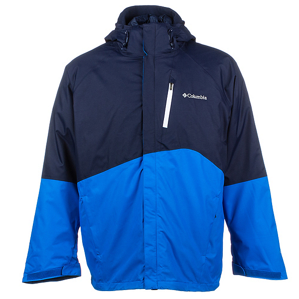 Columbia Powderkeg Interchange Big Mens Insulated Ski Jacket, Collegiate Navy-Hyper Blue-Whi, 600