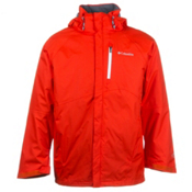 Columbia Powderkeg Interchange Big Mens Insulated Ski Jacket, State Orange-White Pop, medium