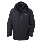 Columbia Powderkeg Interchange Tall Mens Insulated Ski Jacket, Black, medium