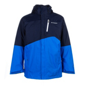 Columbia Powderkeg Interchange Tall Mens Insulated Ski Jacket, Collegiate Blue-Hyper Blue-Whi, medium