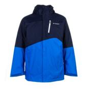 Columbia Powderkeg Interchange Tall Mens Insulated Ski Jacket, Collegiate Blue-Hyper Blue-Whi, medium