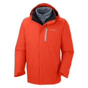 Columbia Powderkeg Interchange Tall Mens Insulated Ski Jacket, State Orange-White Pop, medium