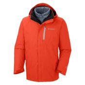 Columbia Powderkeg Interchange Tall Mens Insulated Ski Jacket, State Orange-White Pop, medium