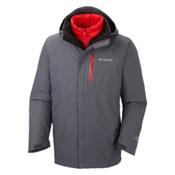 Columbia Powderkeg Interchange Tall Mens Insulated Ski Jacket, Graphite, medium
