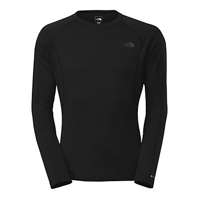 The North Face Warm L/S Crew Neck Mens Long Underwear Top, TNF Black, viewer