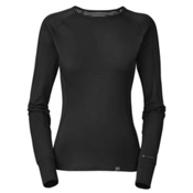 The North Face Warm L/S Crew Neck Womens Long Underwear Top, TNF Black, medium
