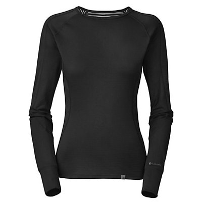 The North Face Warm L/S Crew Neck Womens Long Underwear Top, TNF Black, viewer