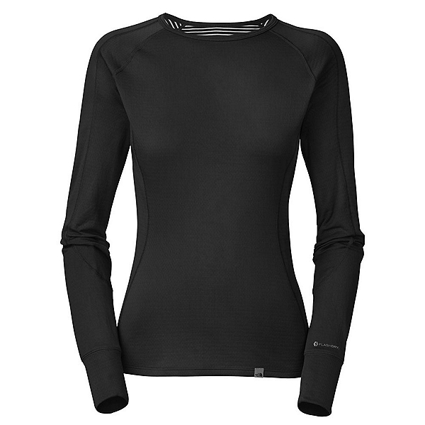 The North Face Warm L/S Crew Neck Womens Long Underwear Top, TNF Black, 600