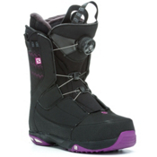 Salomon Ivy Boa Str8Jkt Womens Snowboard Boots, Black-Grape Juice, medium