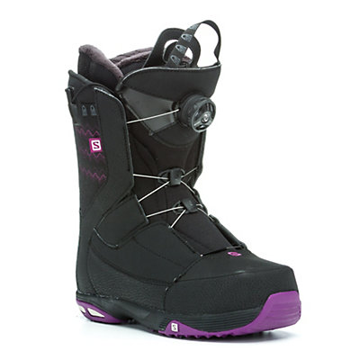 Salomon Ivy Boa Str8Jkt Womens Snowboard Boots, Black-Grape Juice, viewer