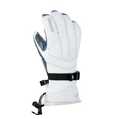 Gordini GORE-TEX Down II Womens Gloves, White-Clay Grey, viewer