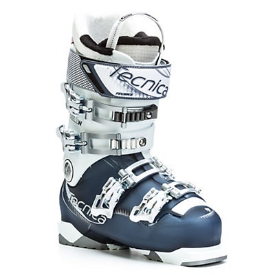 Tecnica Mach1 95 W C.A.S. Womens Ski Boots, White-Blue, viewer