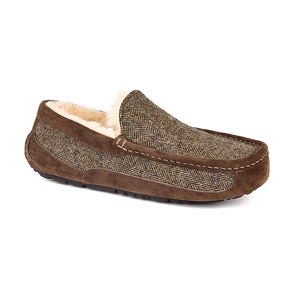 UGG Ascot Tweed Mens Slippers, Stout, 600