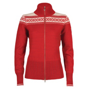 Dale Of Norway Hemsedal Womens Sweater, Rasberry-Off White, medium