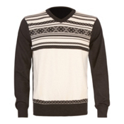 Dale Of Norway Haakon Mens Sweater, Off White-Dark Charcoal, medium
