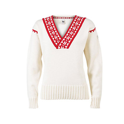 Dale Of Norway Alpina Feminine Womens Sweater, Cream-Raspberry, viewer