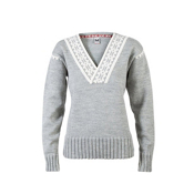 Dale Of Norway Alpina Feminine Womens Sweater, Light Charcoal-Cream, medium