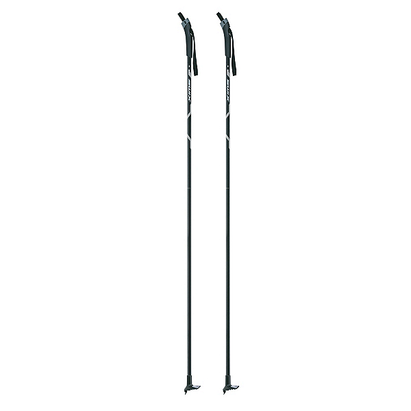 Swix Standard Aluminum Cross Country Ski Poles, Black, 600