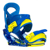 Burton Mission Smalls Kids Snowboard Bindings, Next Level Blue, medium