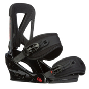 Burton Custom Snowboard Bindings 2016, Black-Red, medium
