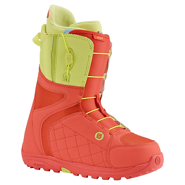 Burton Mint Womens Snowboard Boots, Coral-Yellow, 600