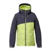 Roxy Pandorea Womens Insulated Snowboard Jacket, Peacot-Sharp Green, medium