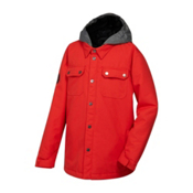 Quiksilver Amplify Boys Snowboard Jacket, Fiery Red, medium