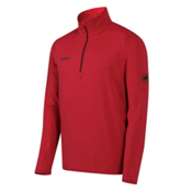 Mammut Snow Zip Long Sleeve Mens Mid Layer, Inferno, medium