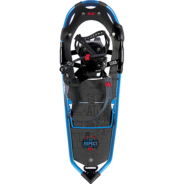 Atlas Aspect Backcountry Snowshoes, Ultra Blue-Red, 600