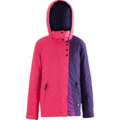 Orage Kella Girls Ski Jacket, Neon Hibiscus, medium